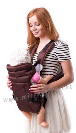 Рюкзак для мамы кенгуру Умка №12 шоколад