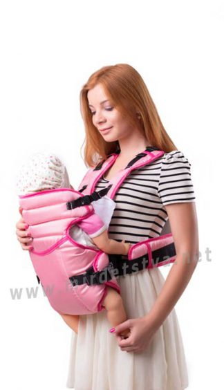 Рюкзак кенгуру для новорожденных Умка №12 светло-розовый