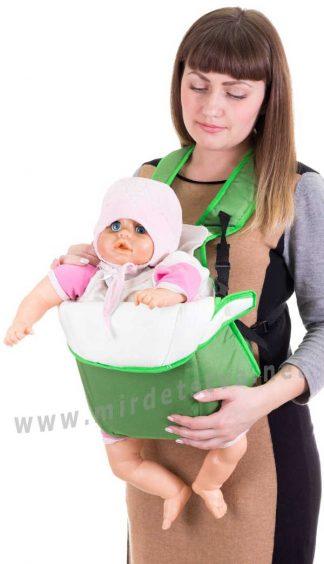 Рюкзак переноска для новорожденных Умка №6 зеленый