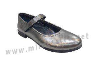 Серебристые туфли для девочек Bistfor 98115/381