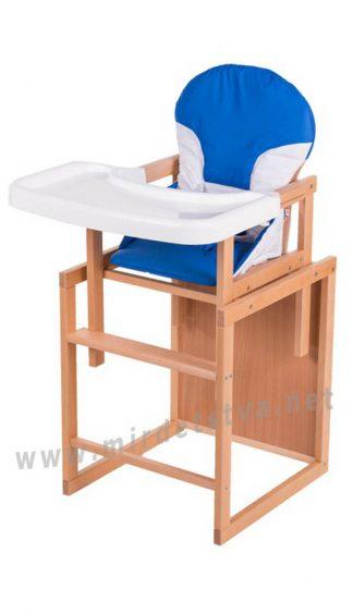 Стульчик для кормления со съемной столешницей Бук-02 светлый пластиковая столешница синий