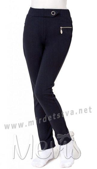 Трикотажные детские школьные брюки девочке Mevis 2720-01