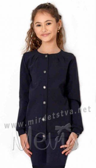 Трикотажный жакет кофта на девочку в школу Mevis 2677-01