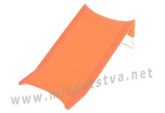 Яркая горка для купания Tega Thick Frotte (махра) DM-015 161 orange