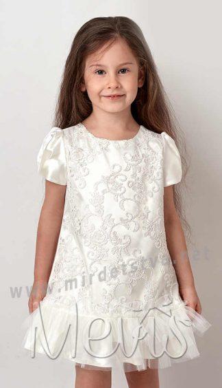 Белое нарядное платье Mevis 2984-03