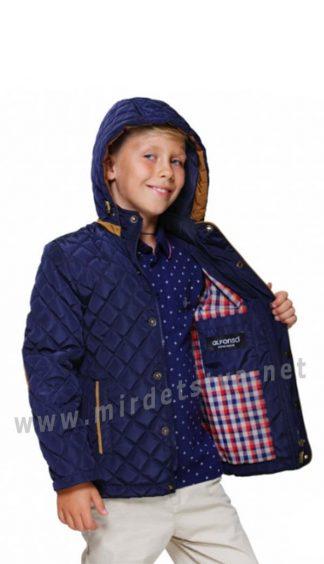 Демисезонная синяя куртка на мальчика Alfonso 38-16 A568