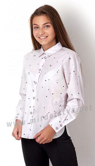 Хлопковая подростковая блуза с цельнокроеным рукавом Mevis 2949-04