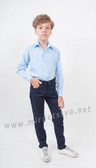 Коттоновые подростковые синие джинсы для мальчика KidsCouture 42051101