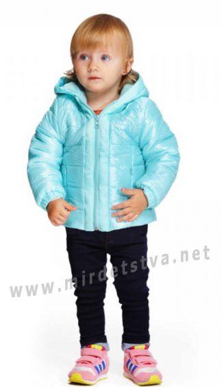 Детская демисезонная куртка с капюшоном девочке Alfonso 02/17-М мята