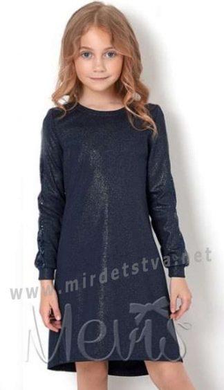 Модное синее платье для девочки Mevis 2875-04