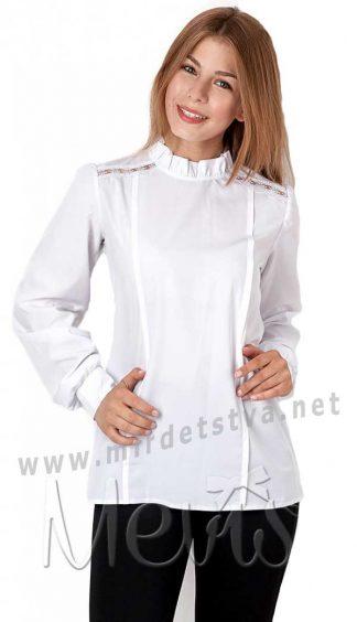 Нарядная белая блузка для девочки Mevis 2804-01