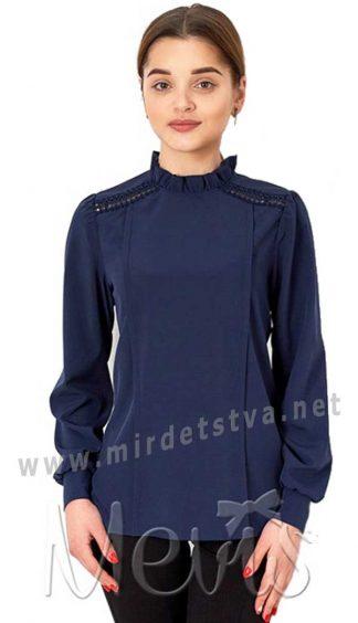 Нарядная синяя блузка для девочки Mevis 2804-03