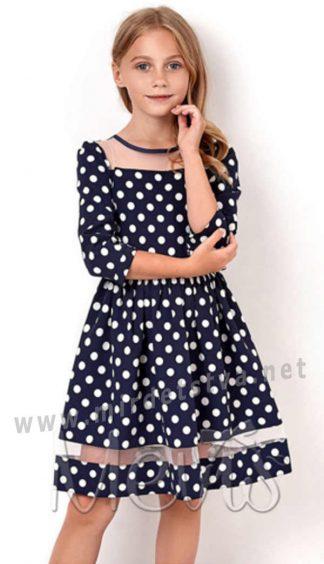 Нарядное платье для девочки Mevis 2916-01 синее