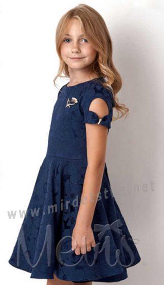 Нарядное синее платье для девочки Mevis 3047-03
