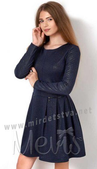 Платье синего цвета для девочки подростка Mevis 2905-03