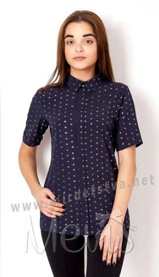 Подростковая синяя блуза в школу Mevis 2660-06