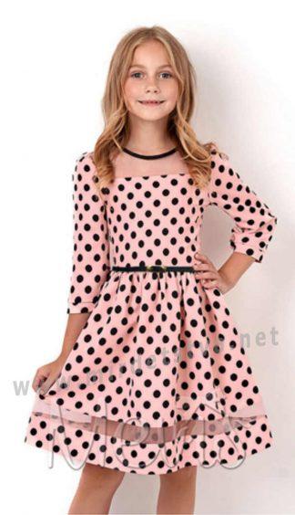 Праздничное платье для девочки Mevis 2916-02 розовое