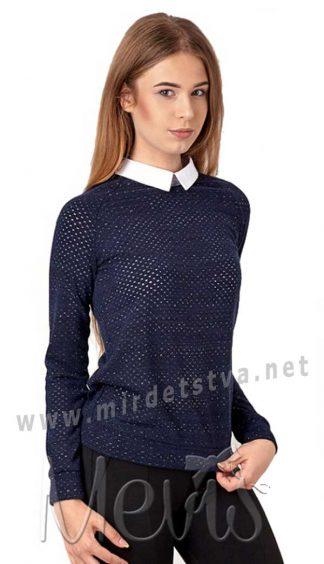 Школьная кофта-обманка для девочки Mevis 2985-01
