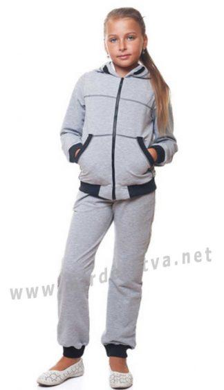 Серый трикотажный костюм KidsCouture 70801516