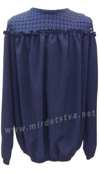 Синяя блузка для девочки Mevis 2375-03