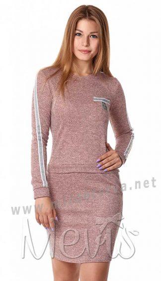 Современное трикотажное платье на девочку подростка Mevis 2998-02