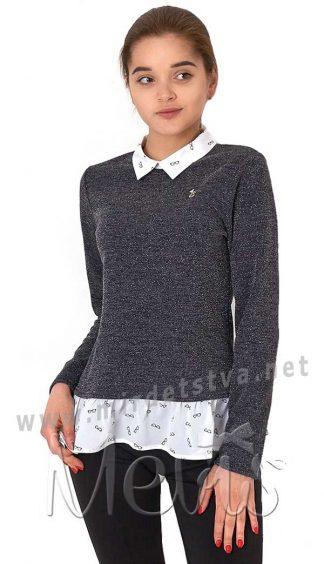 Стильная кофта-обманка Mevis 2873-01 для девочки подростка