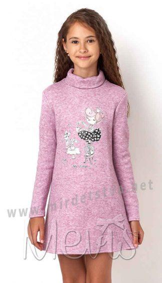 Теплое платье с горловиной Mevis 2954-03