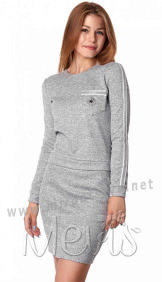 Трикотажное платье для девочки подростка Mevis 2998-01