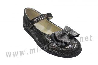 Туфли кожаные для девочки Tops Д525 серые
