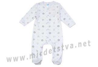 Бело-серый комбинезон для малыша Minikin 00403