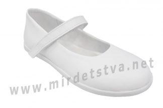 Белые кожаные туфли для девочки Tops Д525