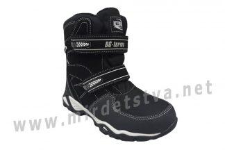 Черные зимние ботинки для мальчика B&G ZTE20-105 термо