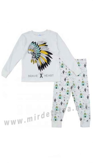 Детская пижама молочного цвета Minikin 194703