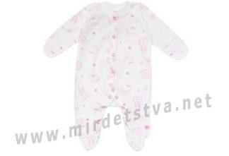 Комбинезон для новорожденных молочно-розового цвета Minikin 01103 (00303)