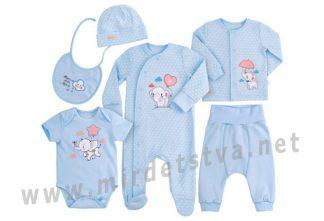 Комплект для малыша Бемби КП228 голубой