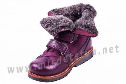 Кожаные зимние ботинки на цигейке ортопедия девочке 4Rest Orto 06-760МЕХ
