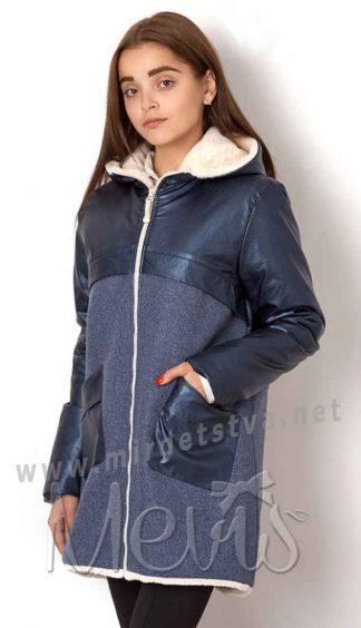 Модное демисезонное пальто для девочки Mevis 7013-01
