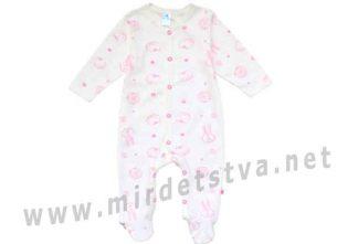 Молочно-розовый комбинезон для девочки Minikin 00403