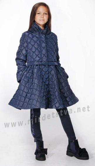 Пальто Lukas 9319 демисезонное стеганое с жемчугом