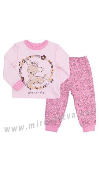 Розовая пижама для девочек Бемби ПЖ39