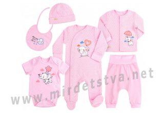 Розовый комплект для девочки Бемби КП228