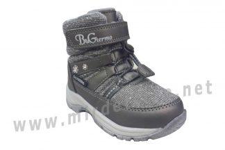 Серебристые зимние ботинки для девочки B&G R20-203