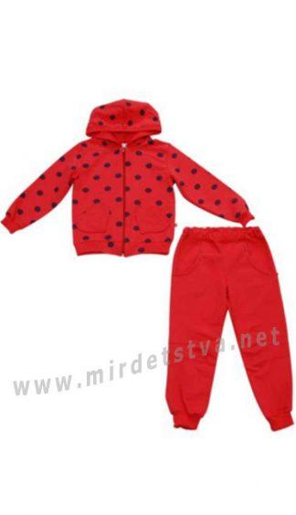 Спортивный костюм для девочки красного цвета Minikin 177107