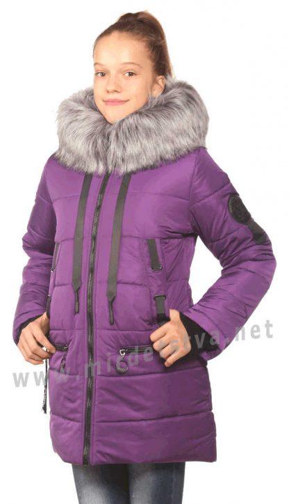 Теплая красивая зимняя детская куртка для девочки Nestta Avrora