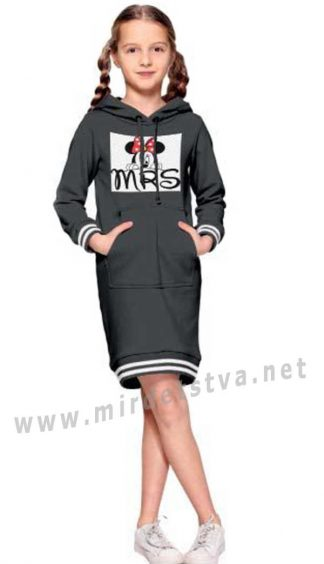 Трикотажное платье черного цвета Alfonso 231-А