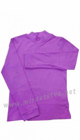 Трикотажный гольф малиново-фиолетового цвета для девочки Бемби ГФ36