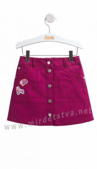 Юбка для девочки малинового цвета Бемби ЮБ90
