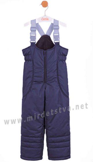 Зимний полукомбинезон темно-синего цвета Бемби ПК133