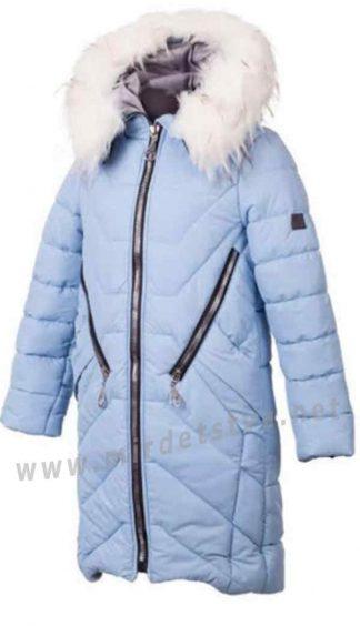 Зимняя курточка с капюшоном для девочки Alfonso Кр-05-В