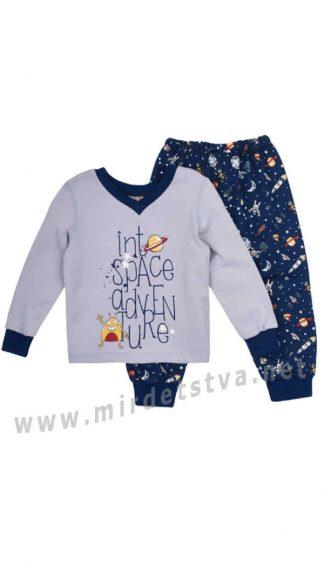 Байковая пижама для мальчика Бемби ПЖ41